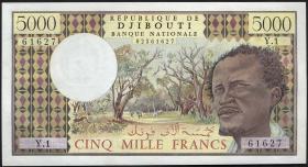 Djibouti P.38a 5000 Francs (1979) (1)