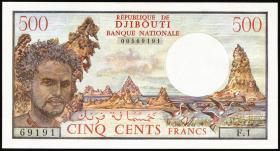 Djibouti P.36a 500 Francs (1979) 1.Auflage (1)