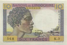 Djibouti P.19 10 Francs (1946) (2+)