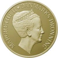 Dänemark 20 Kronen 2010 Königin Margrethe II. 70. Geb., prfr.