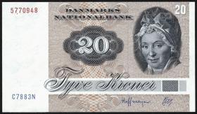 Dänemark / Denmark P.49g 20 Kronen 1988 (1)