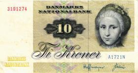 Dänemark / Denmark P.48a 10 Kronen 1972 (3)