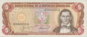 Dom. Republik/Dominican Republic P.118c 5 Pesos Oro 1987 (1)