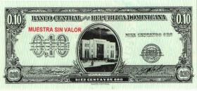 Dom. Republik/Dominican Republic P.086s 10 Centavos Oro (1961) (1)