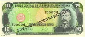 Dom. Republik/Dominican Republic P.153s 10 Pesos Oro 1996 Specimen (1)