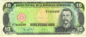Dom. Republik/Dominican Republic P.153 10 Pesos Oro 1997 (2)