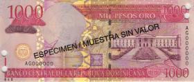 Dom. Republik/Dominican Republic P.173s2 1000 Pesos Oro 2003 SPECIMEN (1)
