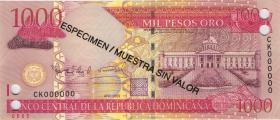 Dom. Republik/Dominican Republic P.180s2 2009 Pesos Oro 2009 SPECIMEN (1)