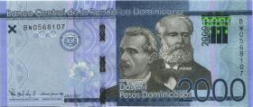Dom. Republik/Dominican Republic P.neu 2000 Pesos Dominicanos 2017 (1)