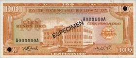 Dom. Republik/Dominican Republic P.113s 100 Pesos Oro 1976