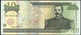 Dom. Republik/Dominican Republic P.165b 10 Pesos Oro 2001