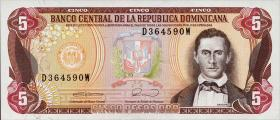 Dom. Republik/Dominican Republic P.131 5 Pesos Oro 1990 (1)