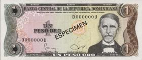 Dom. Republik/Dominican Republic P.117s 1 Peso Oro 1980-82 (1)
