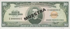 Dom. Republik/Dominican Republic P.101s1 10 Pesos Oro (1964-74) (1)