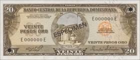 Dom. Republik/Dominican Republic P.111s1 20 Pesos Oro 1975 (1)