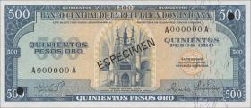 Dom. Republik/Dominican Republic P.114s 500 Pesos Oro 1975 (1)