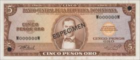 Dom. Republik/Dominican Republic P.100s2 5 Pesos Oro (1964-74) (1)