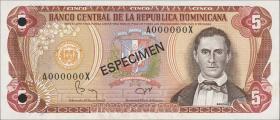 Dom. Republik/Dominican Republic P.118s1 5 Pesos Oro 1982 (1)
