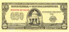 Dom. Republik/Dominican Republic P.090s 50 Centavos Oro (1961) Specimen (1)