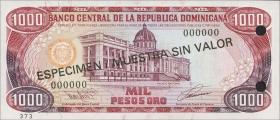 Dom. Republik/Dominican Republic P.145s 1000 Pesos Oro 1993 Specimen (1)