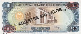 Dom. Republik/Dominican Republic P.137s2 500 Pesos Oro 1994 Specimen (1)