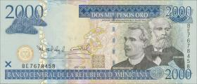 Dom. Republik/Dominican Republic P.181a 2000 Pesos Oro 2006 (1)