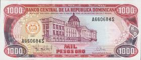 Dom. Republik/Dominican Republic P.158b 1000 Pesos Oro 1997