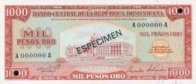 Dom. Republik/Dominican Republic P.115s 1000 PesosOro 1975