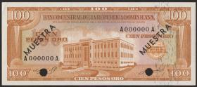 Dom. Republik/Dominican Republic P.104s2 100 Pesos Oro (1964-74) (1)