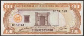 Dom. Republik/Dominican Republic P.136 100 Pesos Oro 1991