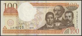 Dom. Republik/Dominican Republic P.167 100 Pesos Oro 2000