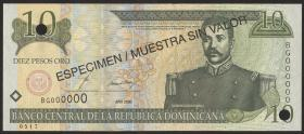 Dom. Republik/Dominican Republic P.159s2 10 Pesos Oro 2000