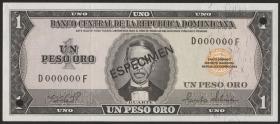 Dom. Republik/Dominican Republic P.108s 1 Peso Oro 1975