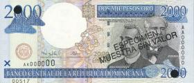 Dom. Republik/Dominican Republic P.164s 2000 Pesos Oro 2000