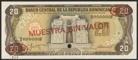 Dom. Republik/Dominican Republic P.120s2 20 Pesos Oro 1987