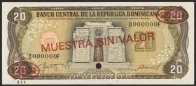 Dom. Republik/Dominican Republic P.120s2 20 Pesos Oro 1987