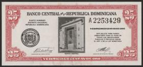 Dom. Republik/Dominican Republic P.087a 25 CentavosOro 1961
