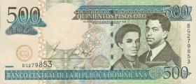 Dom. Republik/Dominican Republic P.172a 500 Pesos Oro 2002