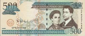 Dom. Republik/Dominican Republic P.179b 500 Pesos Oro 2009