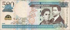Dom. Republik/Dominican Republic P.186b 500 Pesos Dom. 2011