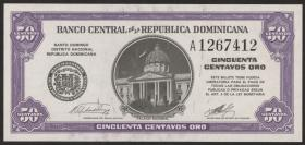 Dom. Republik/Dominican Republic P.089a 50 CentavosOro 1961