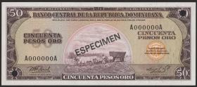 Dom. Republik/Dominican Republic P.112s 50 Pesos Oro 1976