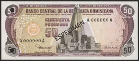 Dom. Republik/Dominican Republic P.121s1 50 Pesos Oro 1980