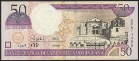 Dom. Republik/Dominican Republic P.161 50 Pesos Oro 2000