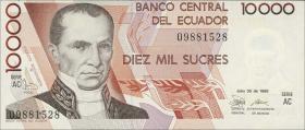 Ecuador P.127a 10000 Sucres 1988 (1)
