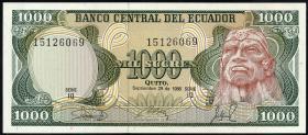 Ecuador P.125a 1000 Sucres 1986 (1)