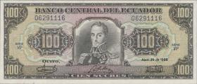 Ecuador P.123 100 Sucres 1986 (1)