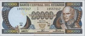 Ecuador P.129f 20000 Sucres 1998 (1)