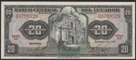 Ecuador P.103b 20 Sucres 1973 (1)