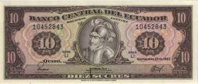 Ecuador P.114b 10 Sucres 1982 (1)
